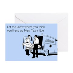 New Years Ambulance Greeting Cards (Pk of 10)