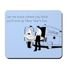 New Years Ambulance Mousepad