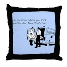 New Years Ambulance Throw Pillow