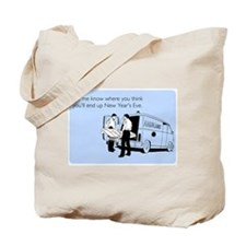 New Years Ambulance Tote Bag
