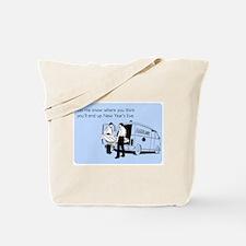 New Years Ambulance Tote Bag