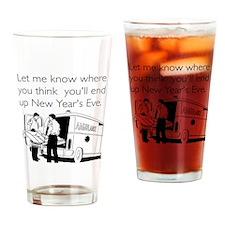 New Years Ambulance Drinking Glass