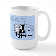 New Years Ambulance Large Mug