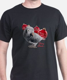 African Grey Parrot Holiday T-Shirt