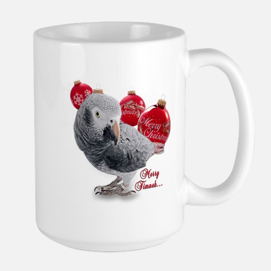African Grey Parrot Holiday Large Mug