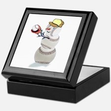 Baseball Snowman Keepsake Box