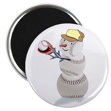 "Baseball Snowman 2.25"" Magnet (10 pack)"