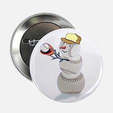 """Baseball Snowman 2.25"""" Button (100 pack)"""
