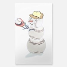 Baseball Snowman Decal