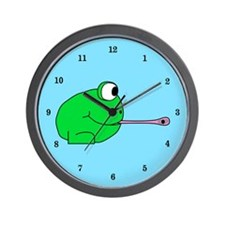 Frog and Fly Wall Clock