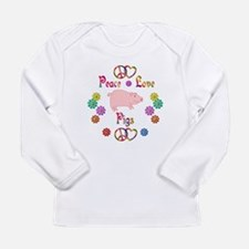 Peace Love Pigs Long Sleeve Infant T-Shirt