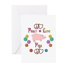 Peace Love Pigs Greeting Card