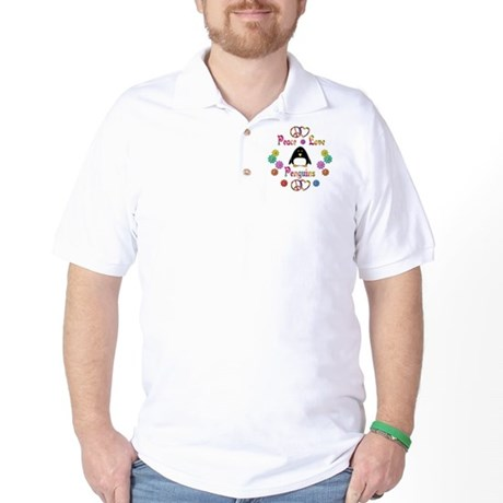 Peace Love Penguins Golf Shirt