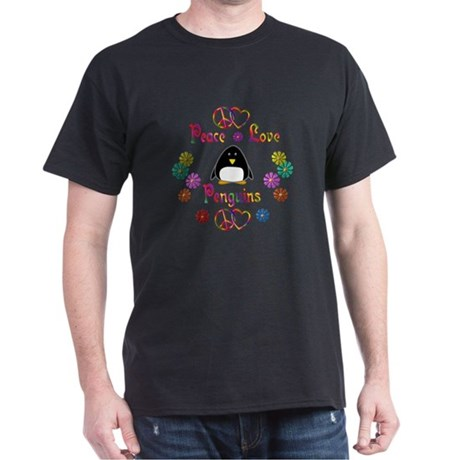Peace Love Penguins Dark T-Shirt