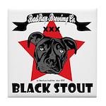 Black Stout Tile Coaster