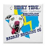 Honky Tonk White Lighting Tile Coaster