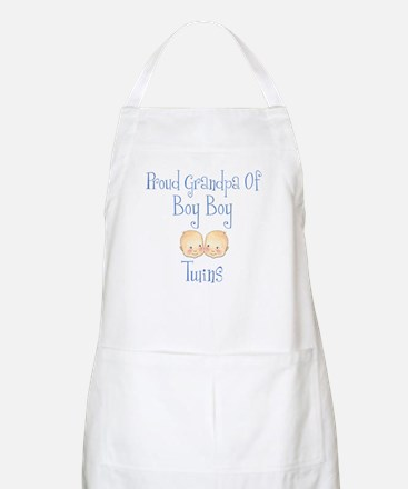 Proud Grandpa of Boy Twins BBQ Apron