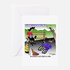 Extreme Sports Biker As A Baby Greeting Card