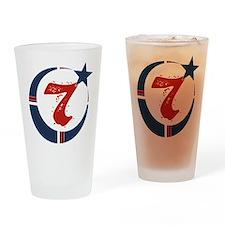 Circle Seven (7) Koran Symbol Drinking Glass