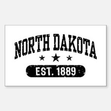 North Dakota Sticker (Rectangle)