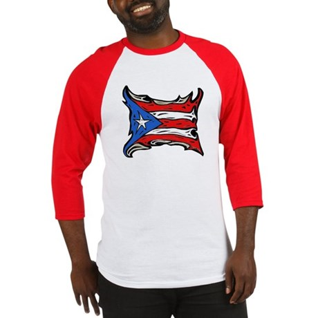 Puerto Rico Heat Flag Baseball Jersey