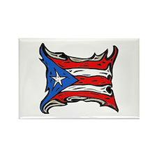 Puerto Rico Heat Flag Rectangle Magnet