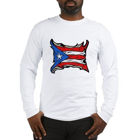 Puerto Rico Heat Flag Long Sleeve T-Shirt
