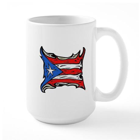 Puerto Rico Heat Flag Large Mug