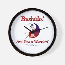 Funny Japanese jiu jitsu Wall Clock