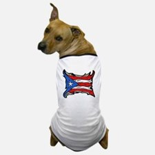 Puerto Rico Heat Flag Dog T-Shirt
