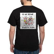 Tuba Cat Jazz Cats Back T-Shirt