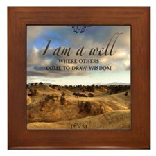 Well And Wisdom Quote on Framed Tile