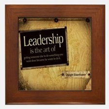 Leadership Quote on Framed Tile