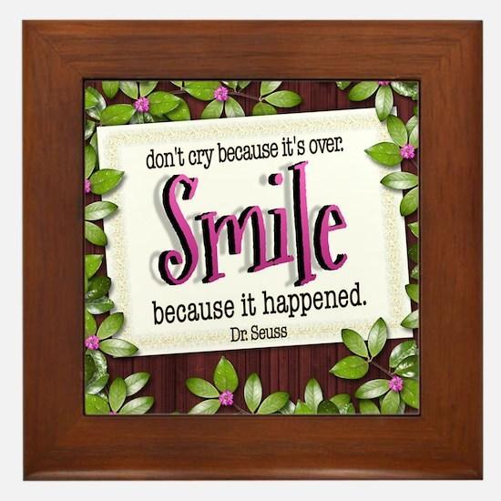 Smile Quote on Framed Tile