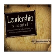 Leadership Quote on Tile Coaster