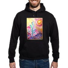 Saguaro Cactus, bright, art Hoodie
