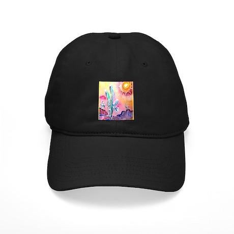 Saguaro Cactus, bright, art Black Cap