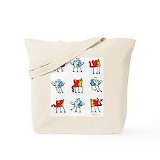 tic-tac-toe couleur Tote Bag