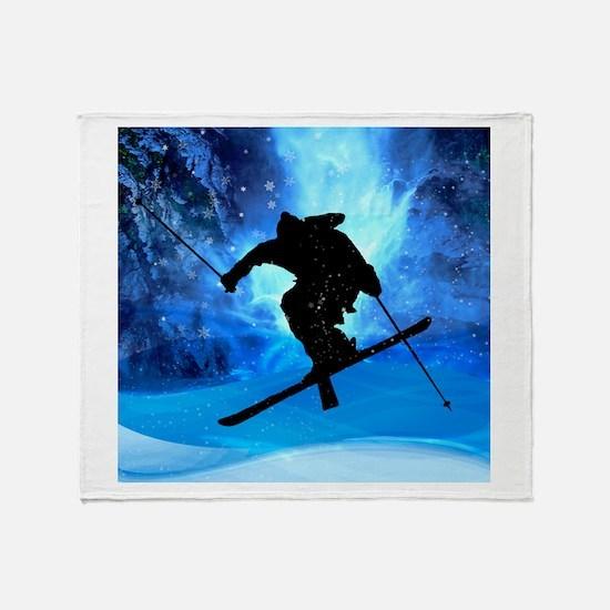 Cute Ski Throw Blanket