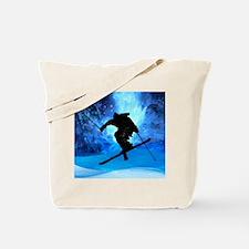 Unique Snow ski Tote Bag