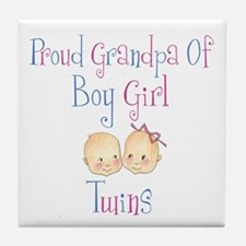 Proud Grandpa of Boy/Girl Twi Tile Coaster