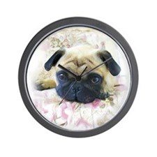 Pug Dog Wall Clock