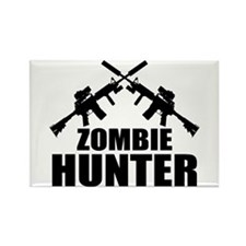 Zombie Hunter Rectangle Magnet (10 pack)