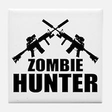 Zombie Hunter Tile Coaster