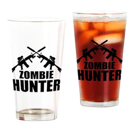 Zombie Hunter Drinking Glass