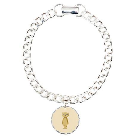 Cute Cartoon Meerkat Charm Bracelet, One Charm