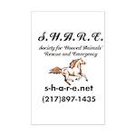 SHARE Mini Poster Print
