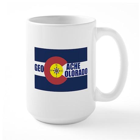 Geocache Colorado Large Mug