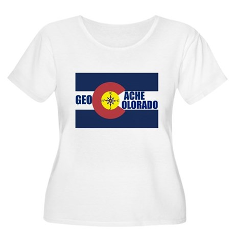Geocache Colorado Women's Plus Size Scoop Neck T-S