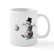 Soccer Ball Snowman Mug